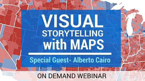 Webinar: Visual Storytelling using Maps with author, Alberto Cairo